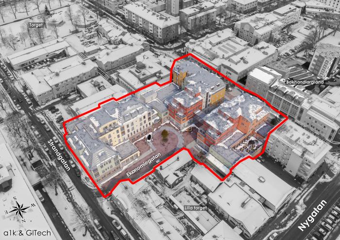 Översikt över färdigställda centrumkvarter