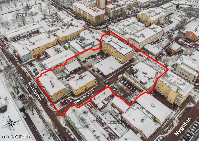 Översikt över nuvarande centrumkvarter