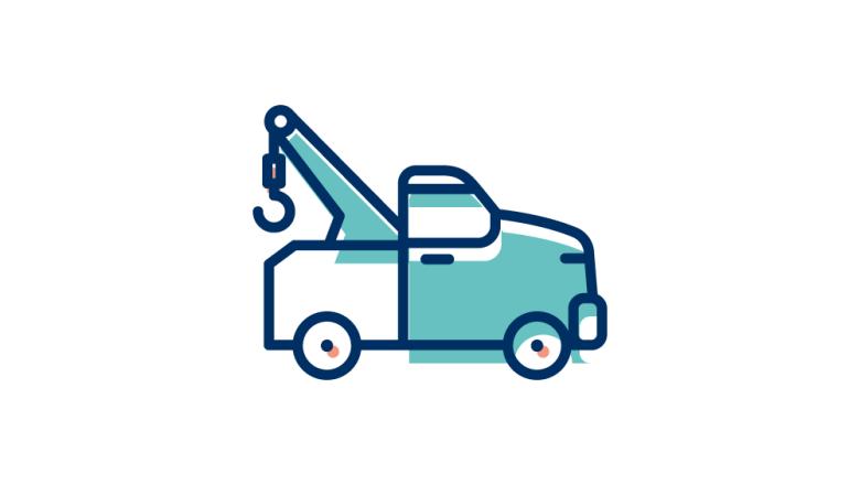 Bilbärgning ikon